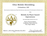 NAID AAA Certificate
